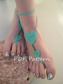 Crochet Barefoot Sandals Jewelry Pattern