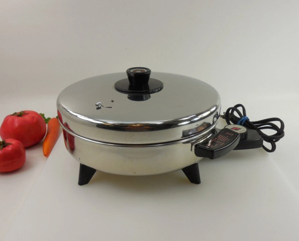 Revere Ware 10 Electric Skillet Fry Pan Stainless