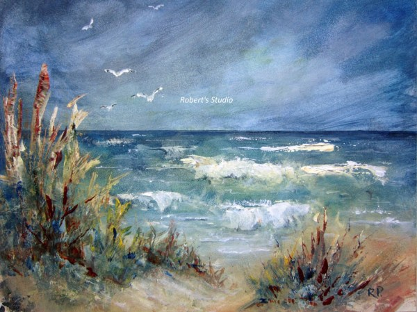 print of original beach painting