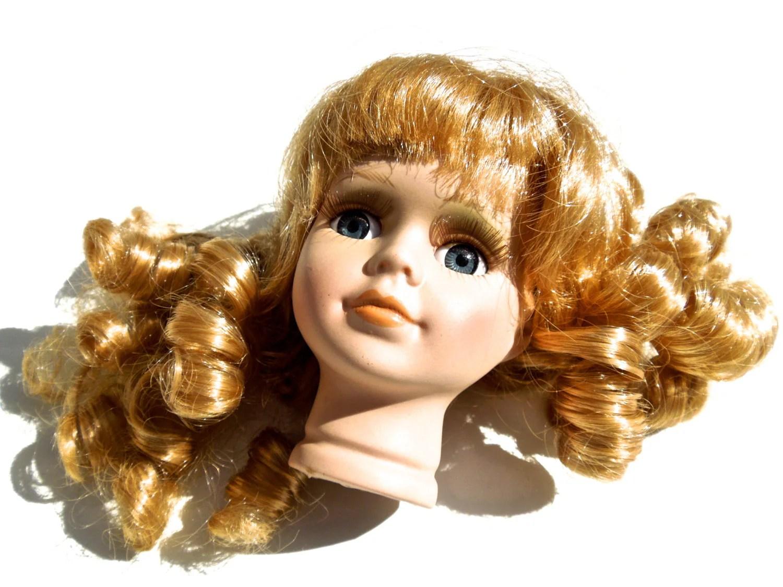 VINTAGE Porcelain Doll Head Doll Making