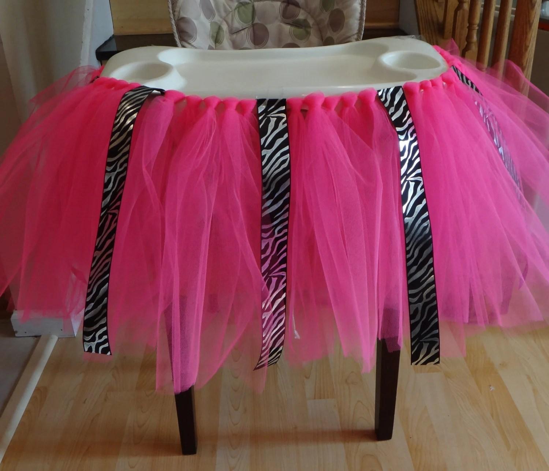 high chair tutu antique white wood desk zebra skirt bib table cake smash
