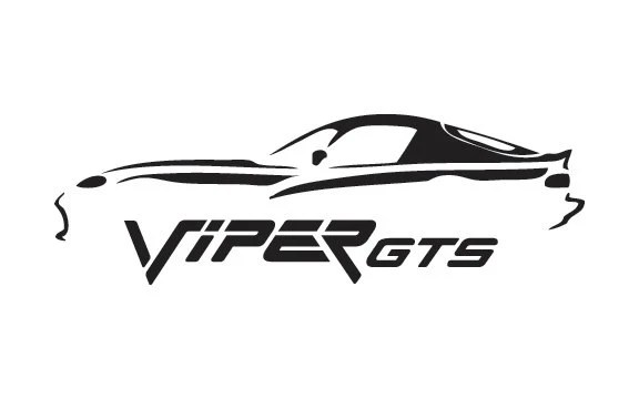 Dodge Viper GTS Silhouette Outline Decal Sticker
