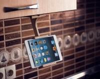 Wood tablet stand Kitchen Dock station Tablet holder Unique