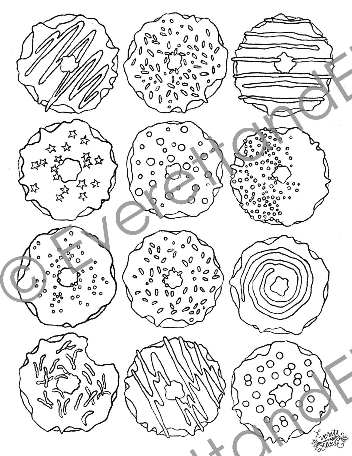 If You Give A Dog A Donut Coloring Pages Coloring Pages