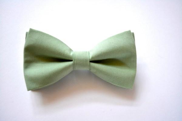 Sage Bow Tie Clip With Strap