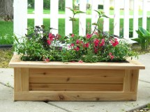 Deck Planter Outdoor Indoor Wooden