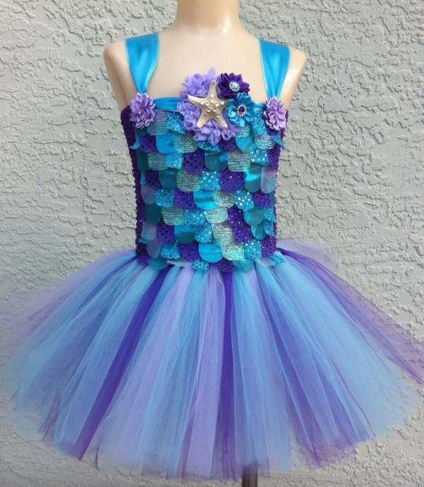 Mermaid Tutu Dress Costume Rainbow