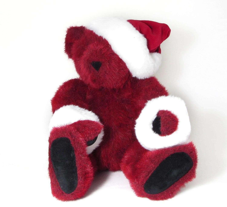 Vermont Red Santa Claus Teddy Bear Vintage