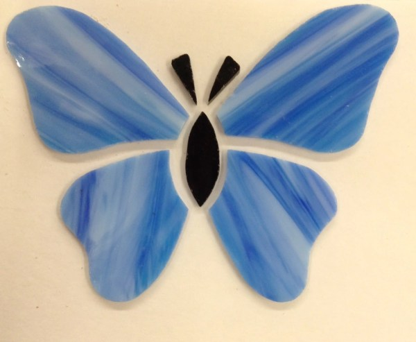Pre-cut Glass Butterfly Mosaic Pieces