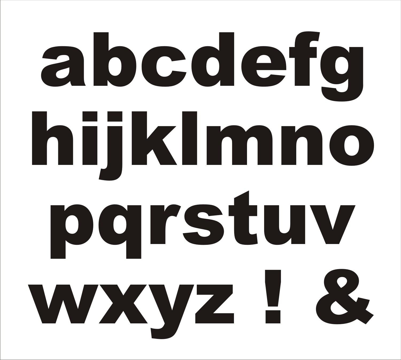 Letter STENCILS Alphabet Stencil 021 A-Z / 5 sizes available