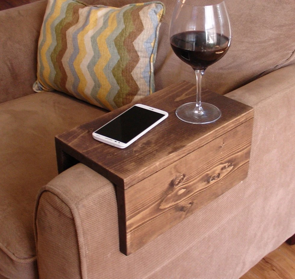 sofa arm rest tray sofaworks nottingham reviews simply awesome couch wrap table for ...