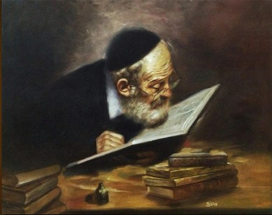 Image result for old man reading painting