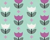 Geometric Bliss by Jeni Baker for Art Gallery Fabrics -Vertex Tulips Mint - Yardage (1/4 Yard Minimum)