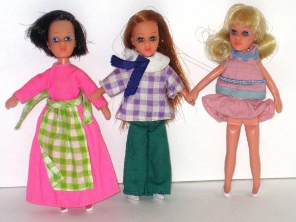 1970s Matchbox Doll Lot Lesney 3 Dolls Original