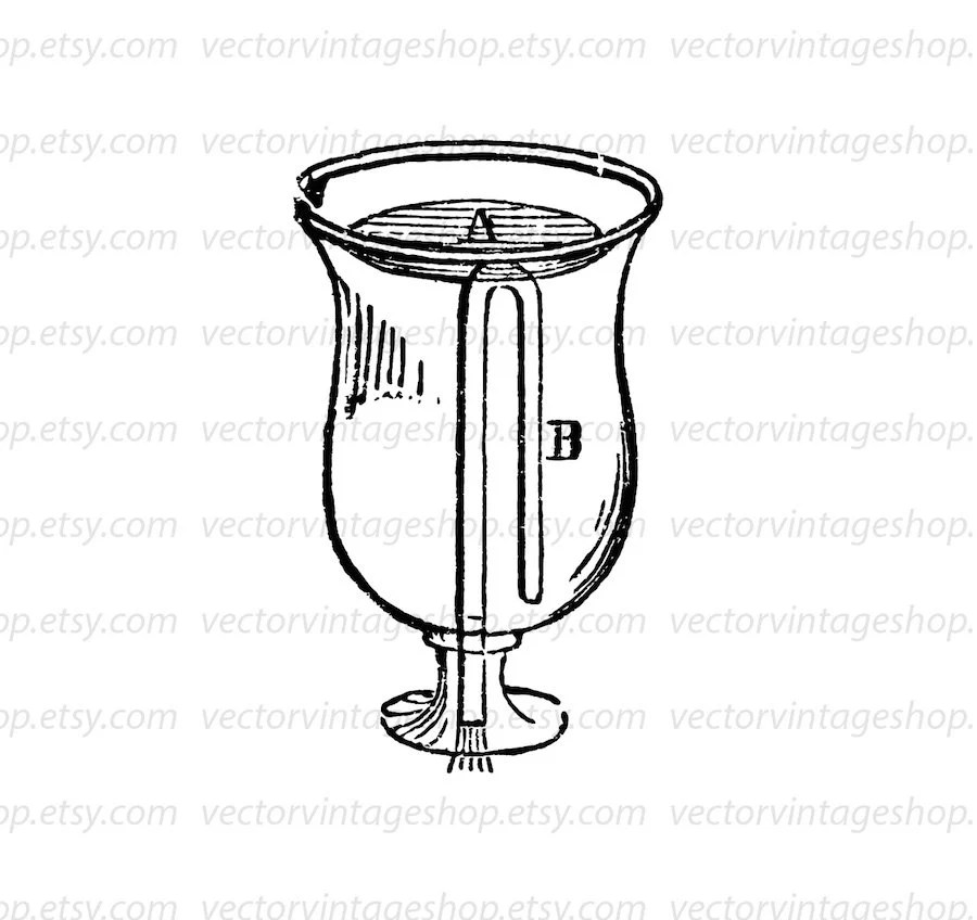 Tantalus Cup Vector Clipart Graphic Instant Download
