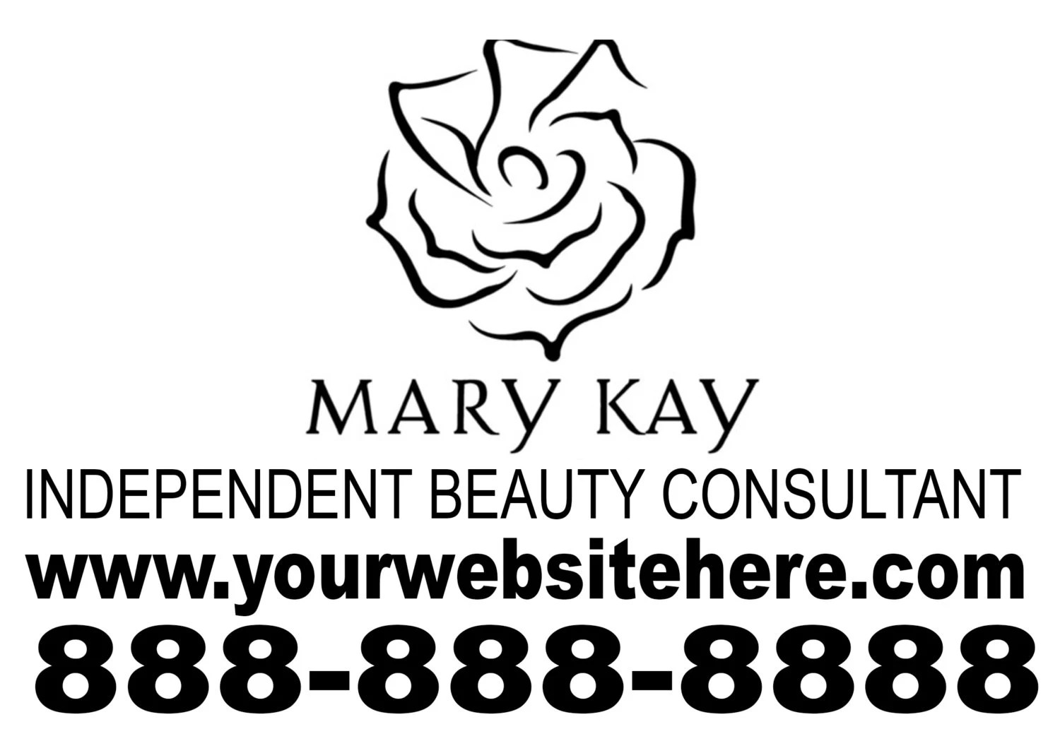 Mary Kay Independent Beauty Consultant Personalized by