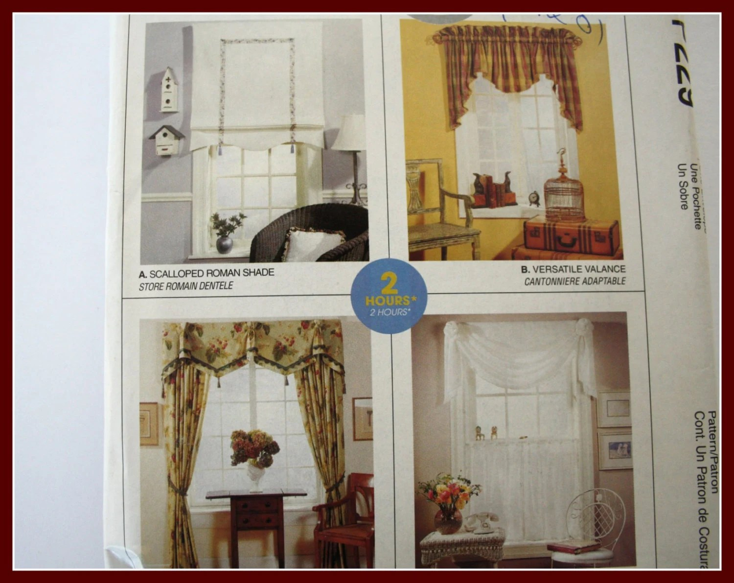 Quick Easy Window Valance Patterns Diy Sew Valances Swags