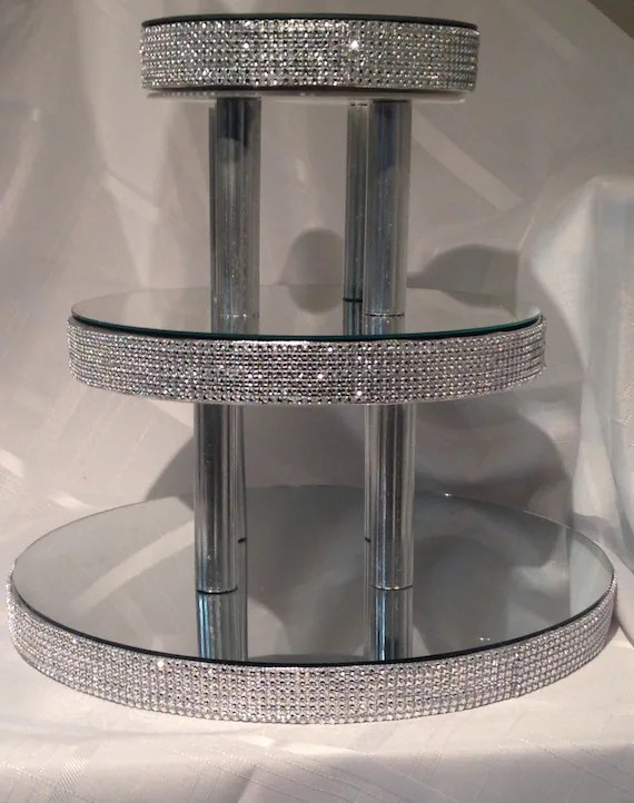 Bling Cupcake Stand 3 Mirrored Tiers