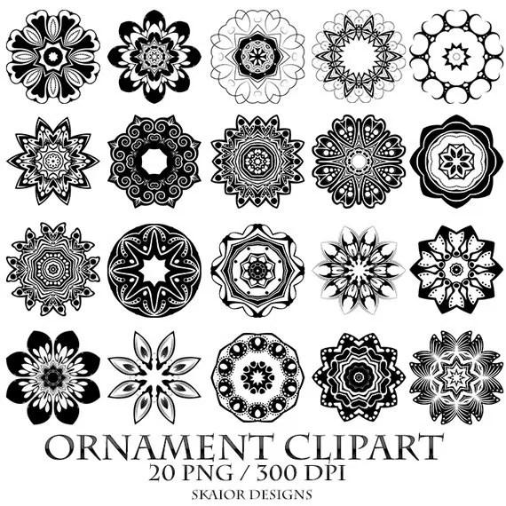 Snowflake Clipart Mandala Clip Art Logo Design