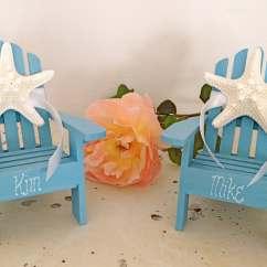 Adirondack Chair Cake Topper Ebay Loose Covers Beach Wedding 2 Mini By