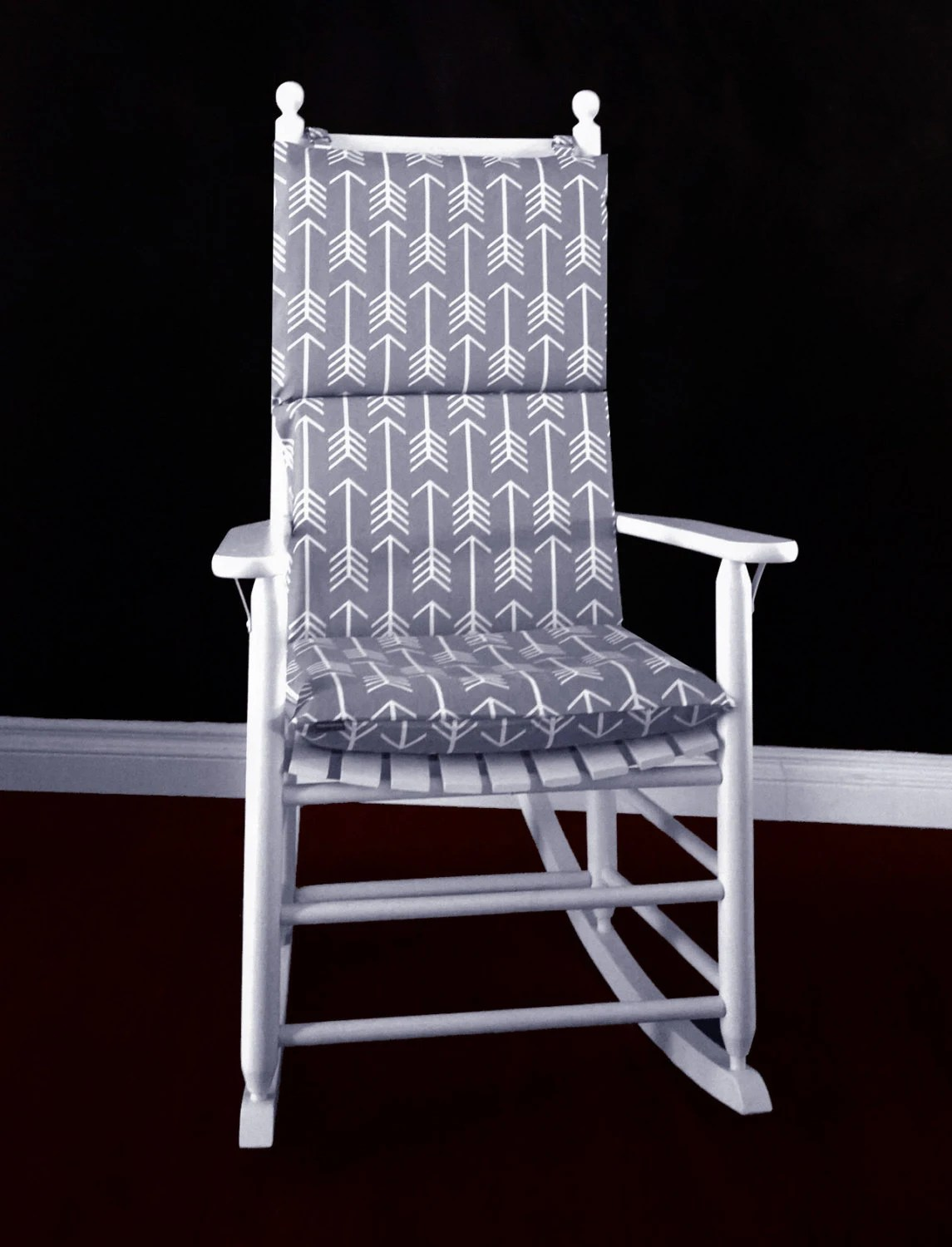 rocking chair cushion covers lift for sale cover grey arrows by rockincushions