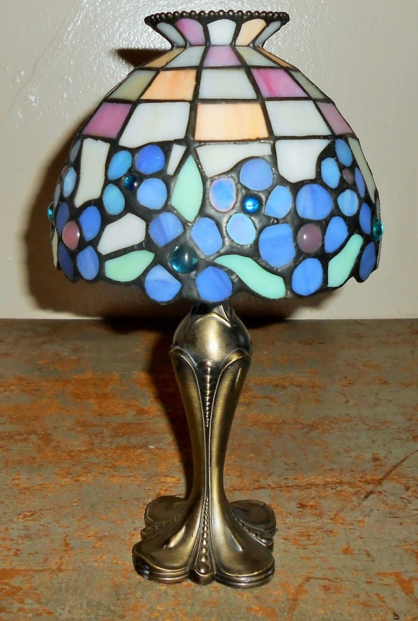 Vintage Candle Holder Party Lite Tiffany Style Lamp