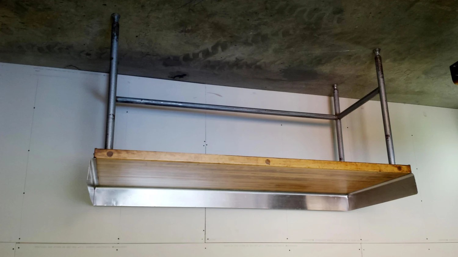Vintage Industrial Butcher Block And Stainless Steel