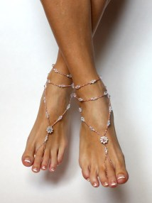 Swarovski Barefoot Sandals Beach Wedding Summer Baresandals