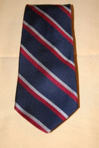 Tommy Hilfiger Skinny Necktie / Red White & Blue Striped