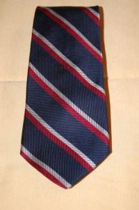 Tommy Hilfiger Skinny Necktie / Red White & Blue Striped