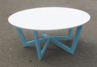 Round Coffee Table. White Quartz top with Powder by ...