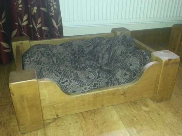 X Large Solid Wood Dog Bed Pine Finished