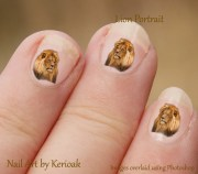lion nail art big cat