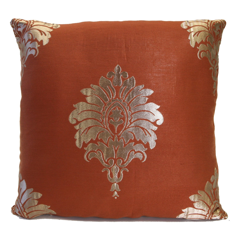 Cinnamon Rust Pillow Throw Pillow Cover Decorative Pillow