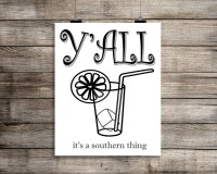Southern Art Southern Wall Decor. Y'all Print. Southern