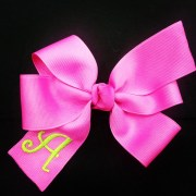 hot pink bow personalized hair