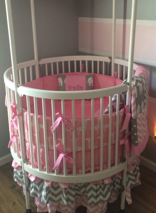Crib Bedding Set Pink And Gray Butterbeansboutique