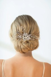 wedding hair comb hairpiece