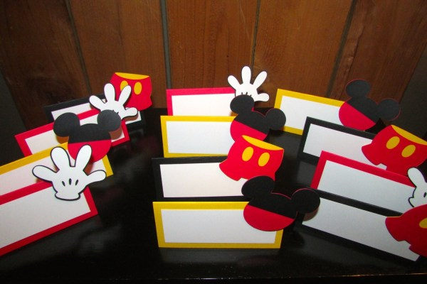 Mickey Mouse Food Tent Place Cards Clubhouse