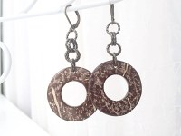 SALE Coconut Jewelry Coconut Earrings by 2BeBeadedBySana