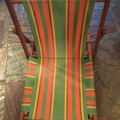 Vintage Beach Chairs Red Chair Sashes For Wedding 1950 39s Cabana Stripe Sand