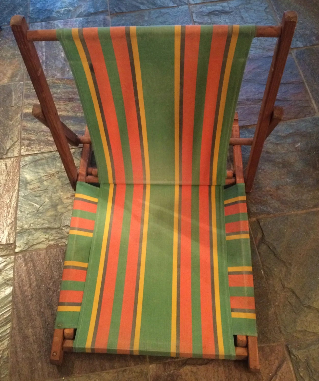 antique beach chair swivel jungle fever vintage 1950 39s cabana stripe sand
