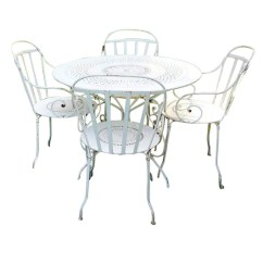 Antique French Bistro Table And Chairs Ball Chair For Office Benefits Country Cafe Set Vintage Pre1960s Iron Metal