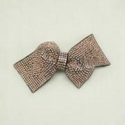 1 pc of peach ribbon bow applique
