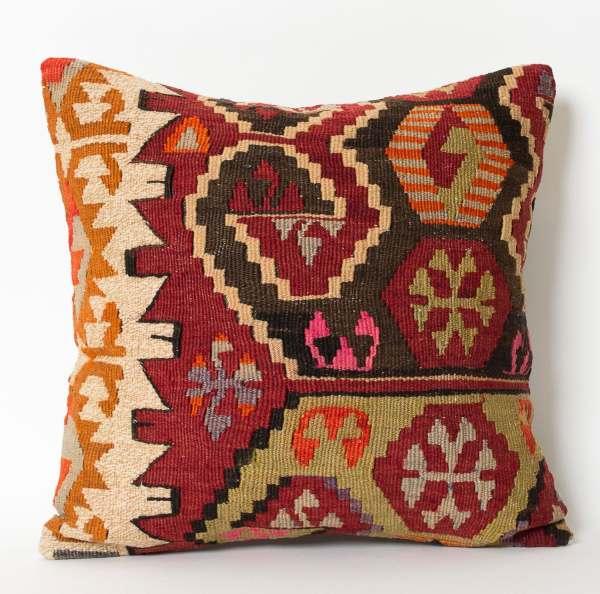 Kilim Pillow 16x16 Cover Turkish