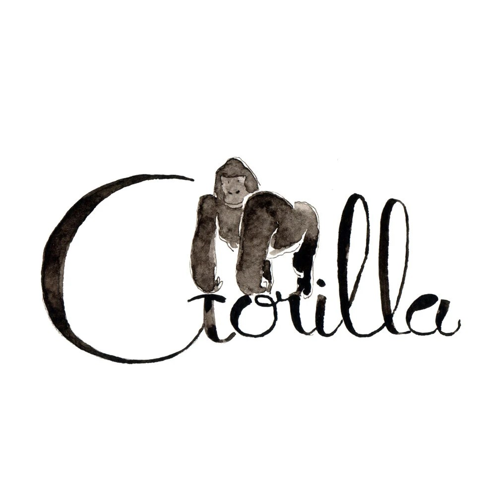 G like Gorilla Learn english with fun: What animal name