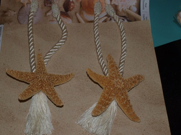 Coastal Sugar Starfish Curtain Tie Backs 2