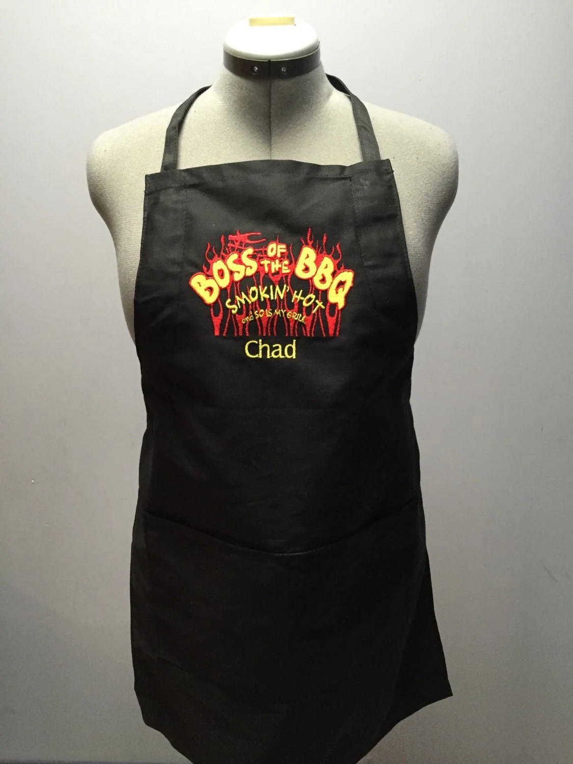 Smoking Hot And So is My Grill mens apron BBQ by