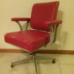 Steelcase Vintage Chair Stool Red Office Desk