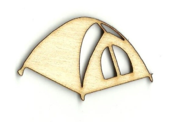 Tent Laser Cut Out Unfinished Wood Shape Craft Supply TRP1